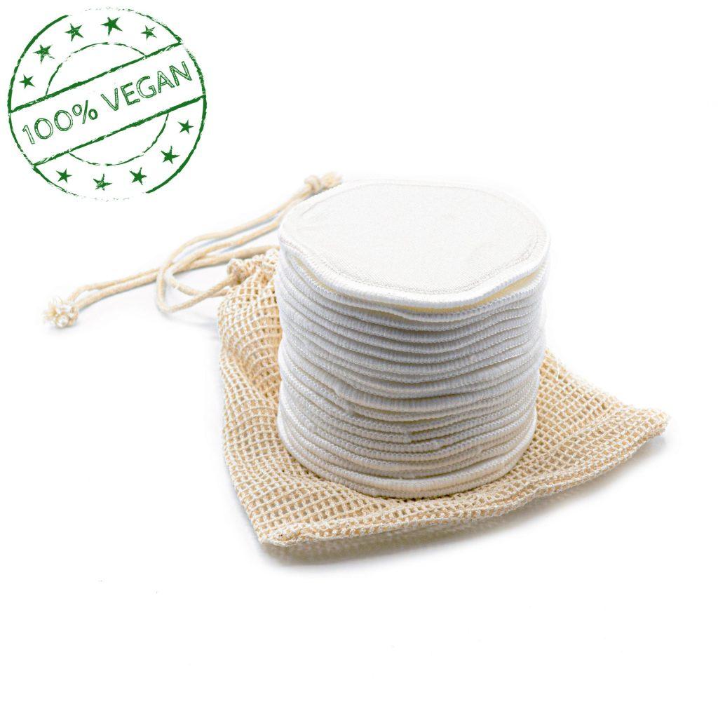 Wiederverwendbare Abschminkpads aus 100% Bambusviskose