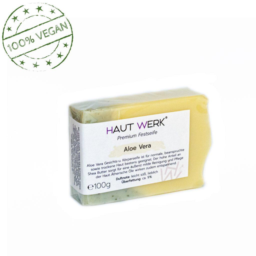 Aloe Vera (front) - Handgeschöpfte und natürliche Seife von Haut Werk.