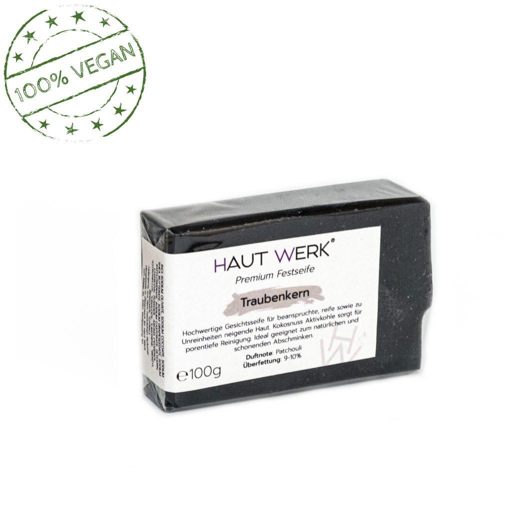 Traubenkern (front) - Handgeschöpfte und natürliche Seife von Haut Werk.